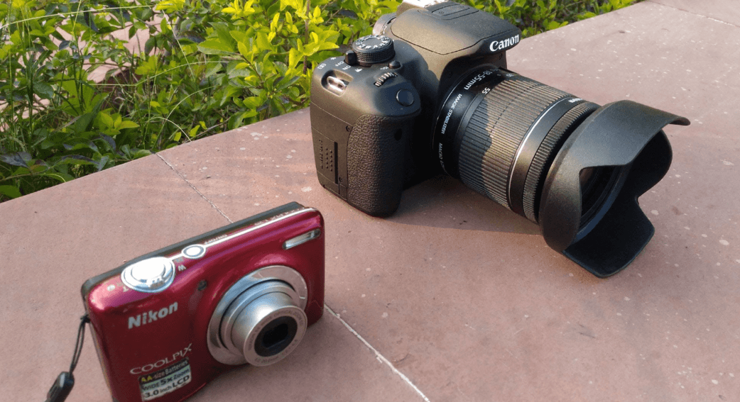The difference between a DSLR and a point and shoot camera