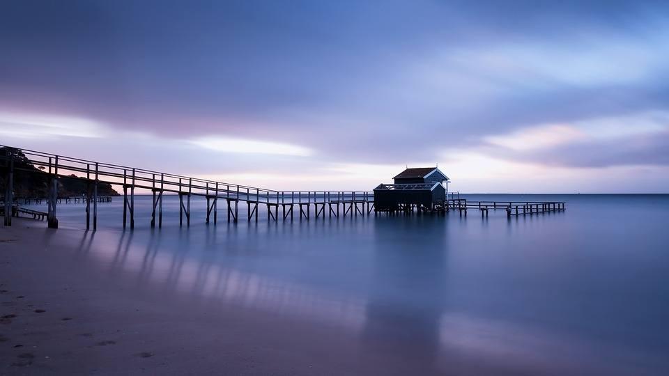 jetty-beach-sunset-sea-ocean-sky